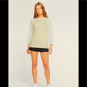 Hurley Women's Paia Circle 3/4-Sleeve T-Shirt